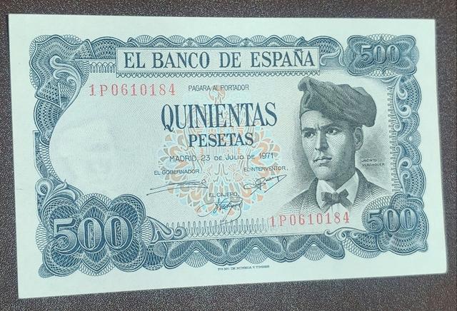 Billetes De 500 Pesetas De 1971