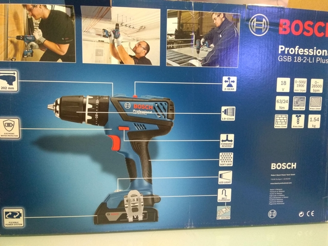 Taladro Profesional Bosch Gsb 18 2-Li Pl