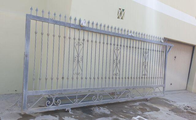 Puerta Corredera De Hierro Galvanizado