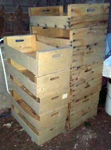 Cajas Madera Para Bricolage,  Blancas