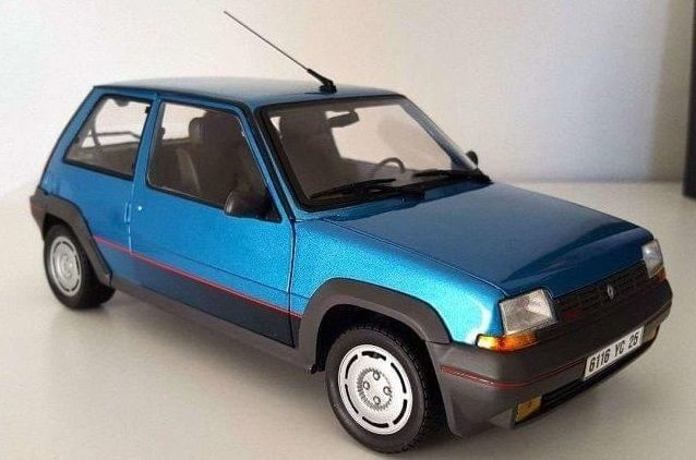 Renault 5 Gt Turbo Azul Escala 1:18 De N