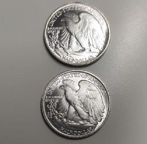 Medio Dolar Usa Con 2 Caras Iguales Agui