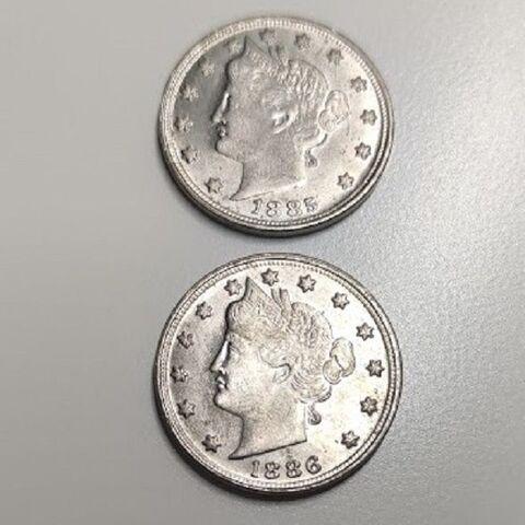 Moneda Usa De 1985/1886 De 2 Caras Igual