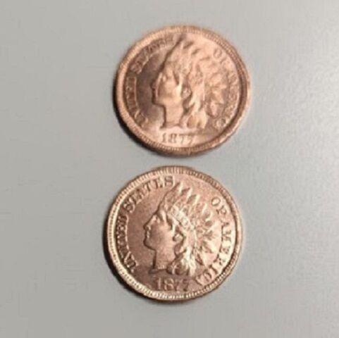 Moneda Usa De 1877 De 2 Caras Iguales