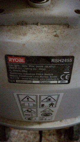 TRITURADORA RYOBI RSH2455 - foto 3