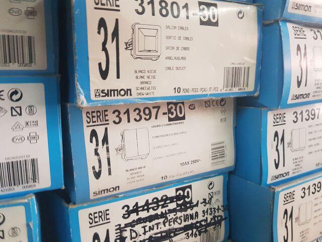 80 Dobles Interruptores Simon 31398-30 N