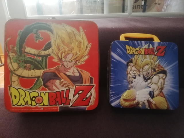 Par De Cajas Metalicas Dragon Ball Z
