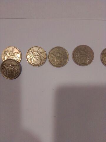 Vendo Lote Monedas 5 Pesetas De 1957