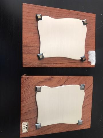 2 Placas Pequeñas De Plata De Ley