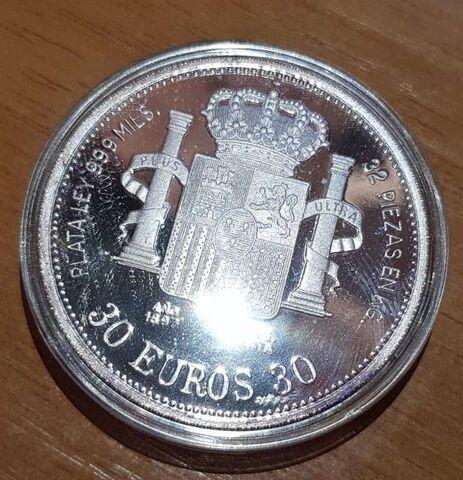 Serie Monedas Plata 30 Euros Autonomias
