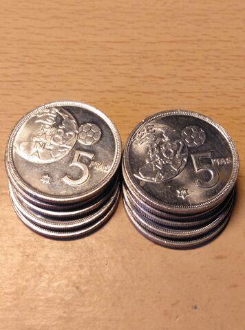 Monedas De 5 Pts Mundial.