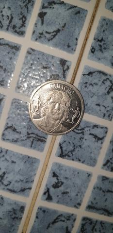 Moneda De Plata Del Real  Madrd