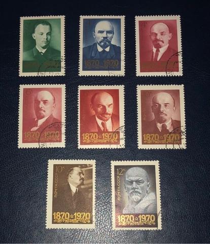 Lote 8 Sellos Urss 1970-I Cent.Nac.Lenin