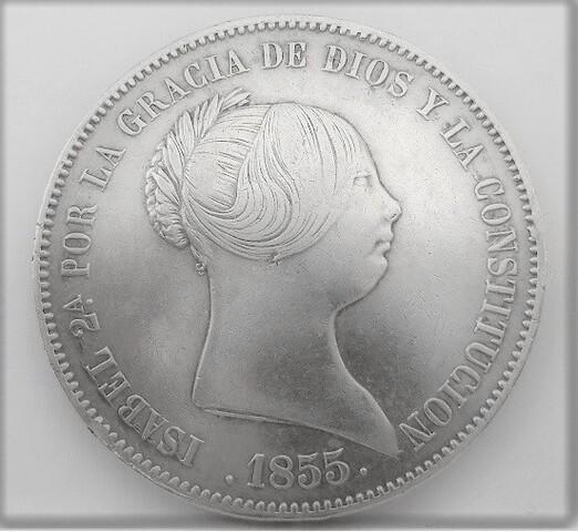 Moneda  20 Reales Isabel Ii -1855