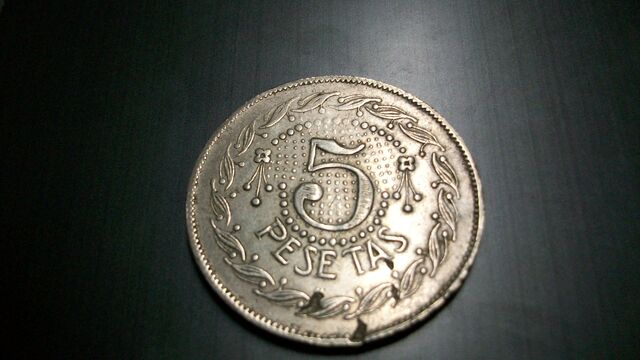 Moneda De 5 Pesetas España