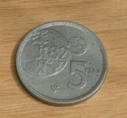 Moneda 5 Pts 1980 Mundial 82 Estrella 81
