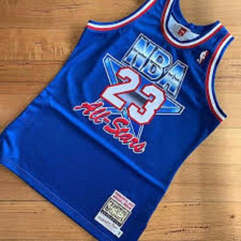 CAMISETA NBA BULLS 23 AZUL ALL STARS 93 - foto 1