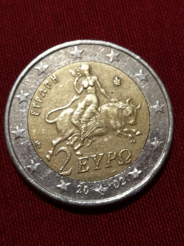 Moneda 2 Euros Grècia 2002 S (Finlàndia)