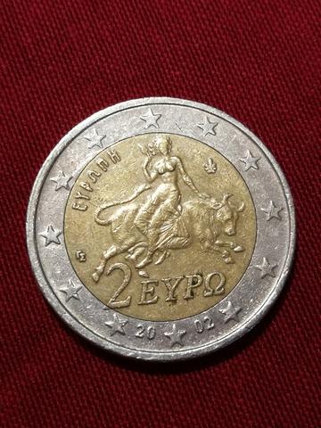 Moneda 2 Euros Grècia 2002