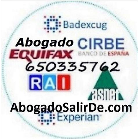 ABOGADO SALIR ASNEF RAI EXPERIAN MOROSOS - foto 1