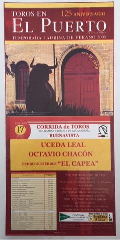 Cartel De Toros Del Puerto 2005.