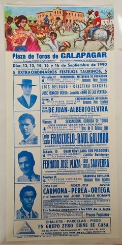 Cartel De Toros De Galapagar 1990.