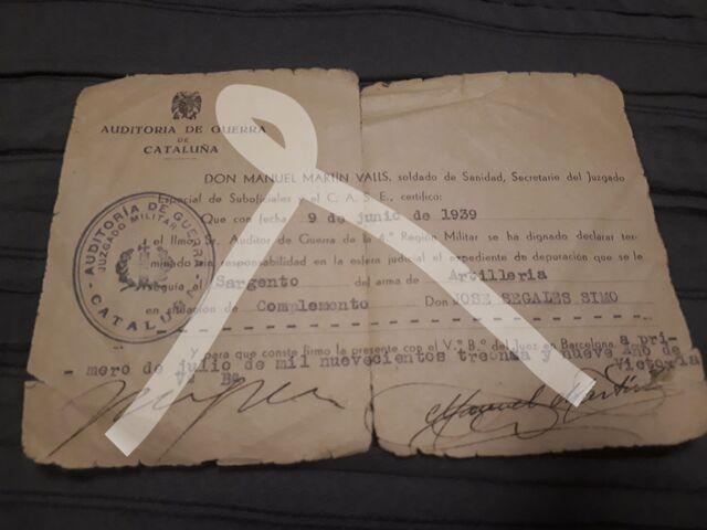 Documento Guerra Civil Española Gce