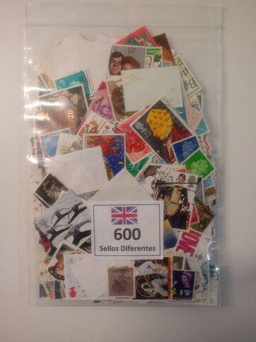 600 Sellos De Gran Bretaña Diferentes