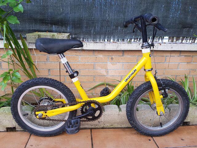 Bici 14 Pulgadas Amarilla