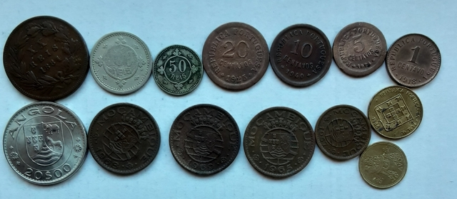 Portugal Lote De 14 Monedas Monarquia, C