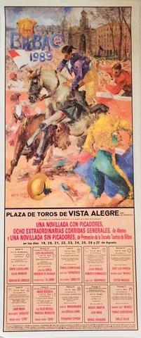 Cartel De Toros De Bilbao 1989.