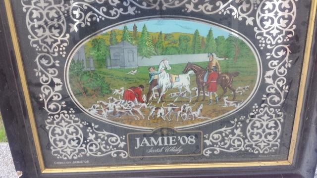 Cuadro Espejo Antiguo Whisky Jamie O8