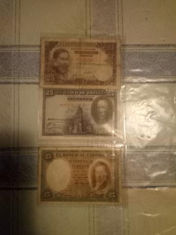 Lote De Tres Billetes