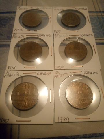Lote De 6 Monedas,Rf Francia