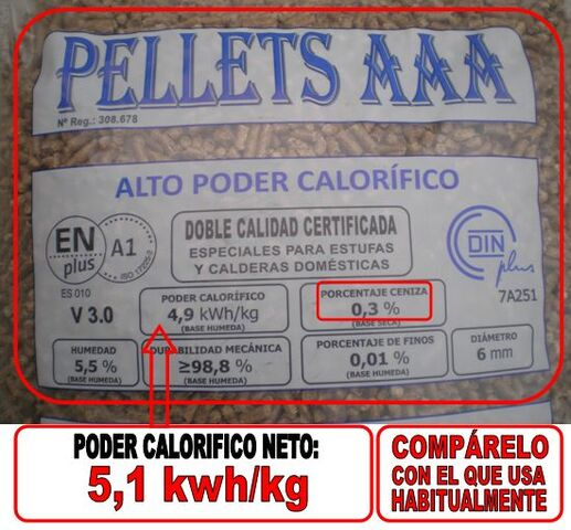PELLETS A1 AAA COSTA ORIENTAL CANTABRIA - foto 3