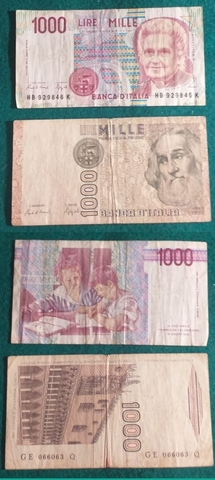 Billetes Italianos