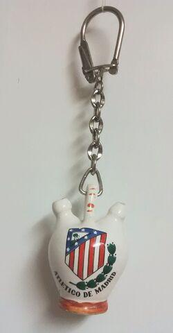 Llavero Botijo Atletico Madrid Ceramica