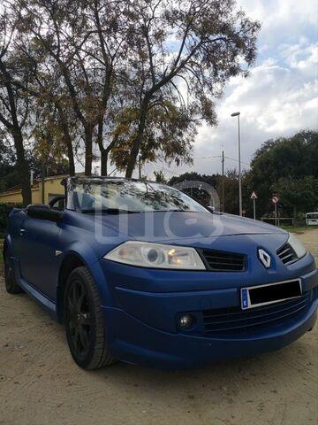 Negro Y Azul Tacón De Goma Esteras de Coche 10-Now Renault Megane Cabrio Descapotable