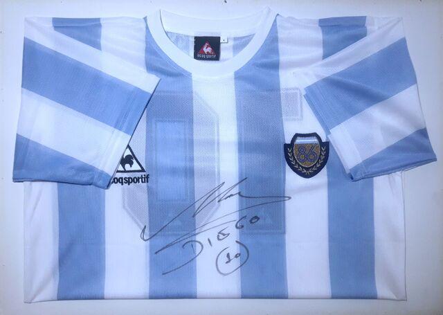 Camiseta Mundial 86 Firmada Por Maradona