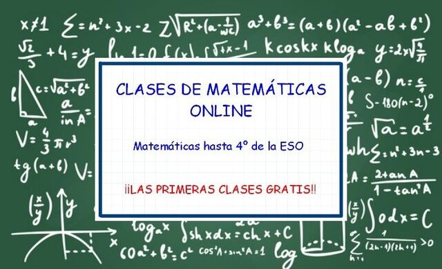 CLASES DE MATEMÁTICAS ONLINE - foto 1