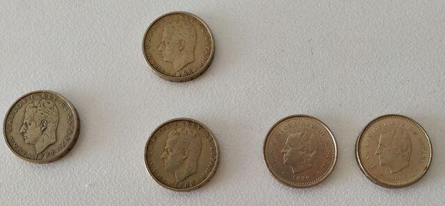 5 Monedas De 100 Pesetas