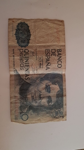 Billete De 500 Pesetas Antiguas