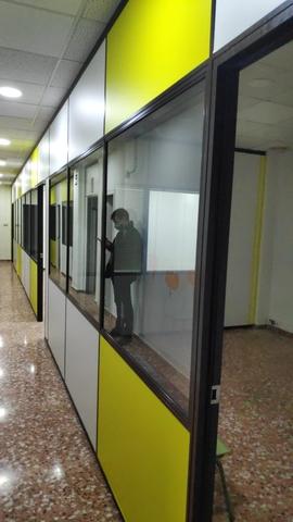 MAMPARAS OFICINAS PAREDES DE PANEL - foto 1