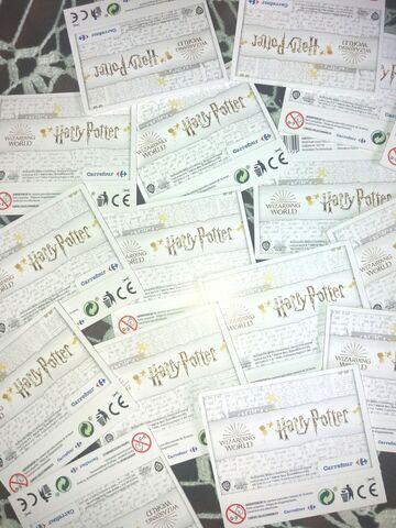 150 Sobres Colección Harry Potter Carref