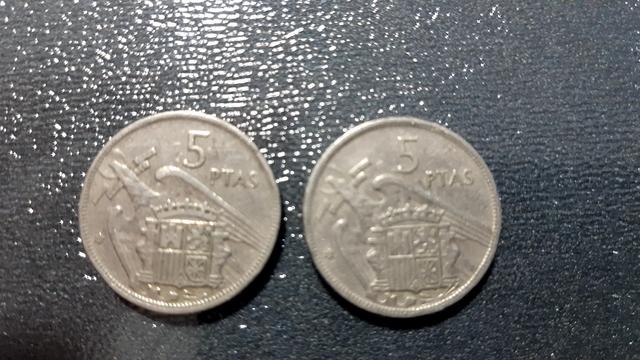 Monedas 5 Pesetas 1957