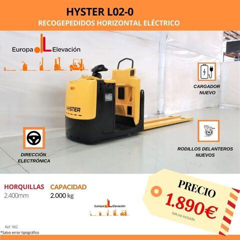 RECOGEPEDIDOS HYSTER ELÉCTRICO 2. 000KG - foto 1
