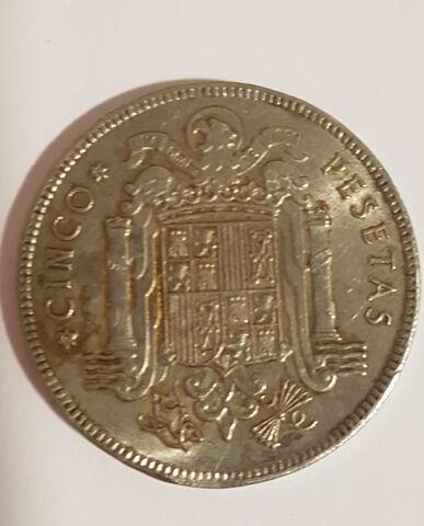 Moneda De 5 Pts De Franco De 1949