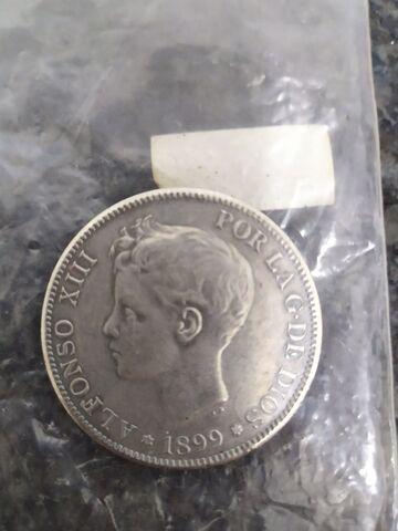 Moneda 5 Pesetas Alfonso Xiii 1899