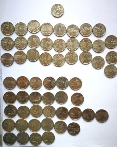 Lote 58 Monedas Quarter Conmemorativas.