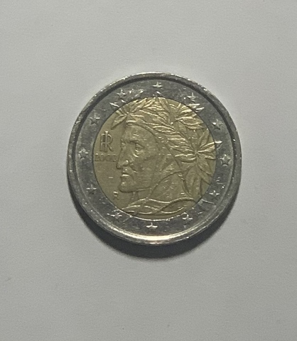 Moneda 2 Euros Dante 2002 Coleccion. Ros